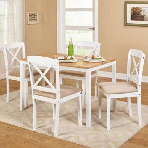 Dinette Set 5 Piece Wood Kitchen Dining Sets Dinner Table Ch