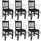 vidaXL Set of 6 Dining Chair Kitchen Seat Home Living Room S