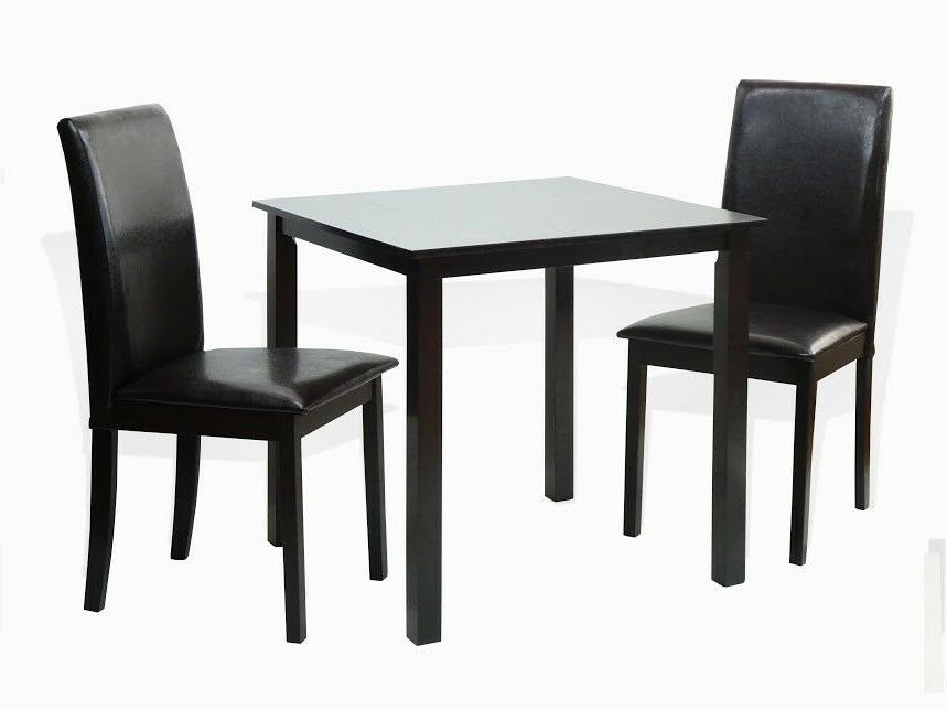 Dining Kitchen 3 Pcs SET Square Table 2 Fallabella Chairs, E