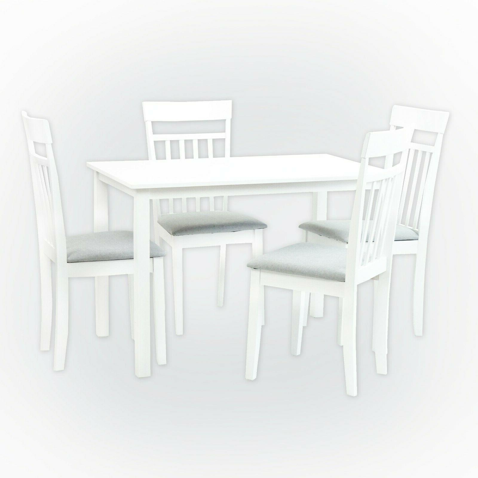 Dining Kitchen 5 SET Table 4 Warm Chairs Finish