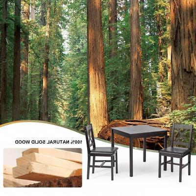Dining Kitchen Table Dining Set 3 Piece Wood in Table Set