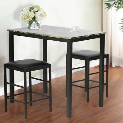 Dining Set Marble Rectangular Wood Dining Room