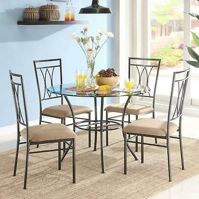 Dining Kitchen Table And Chairs Sets Round 5 Piece
