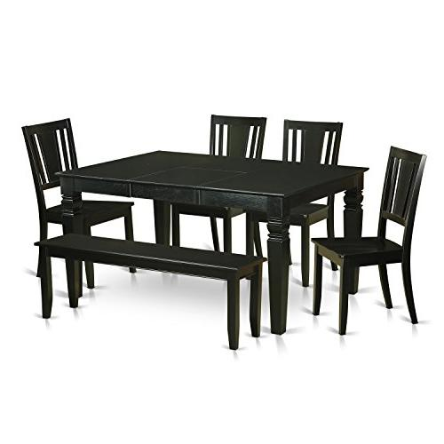 6 Piece Dining Room Table Set - Dining Table And 4 Kitchen C