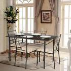5 Piece Dining Set Breakfast Furniture 4 Chairs and Table Ki