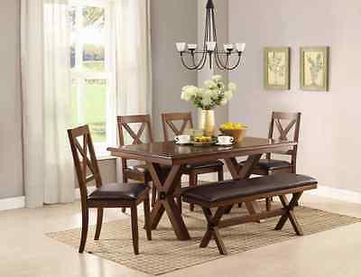 6 Maddox Bench Wood Tables Sets for 6