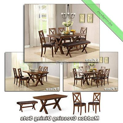 dining sets wood farmhouse maddox tables chairs