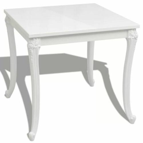 """Dining Table 30"""" Gloss White Home Desk US"""