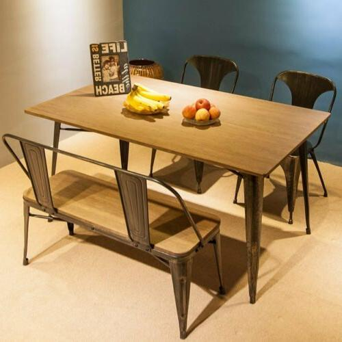 Dining Table Industrial Style Kitchen Room Desk Furniture So