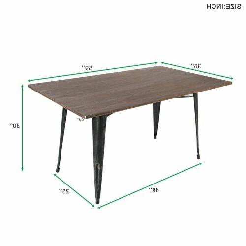 Dining Table Kitchen Room Furniture Solid Wood