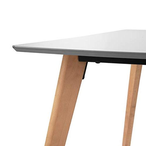 Homy Casa Table Grey Room Side Table Top MDF and Legs,Rectangular