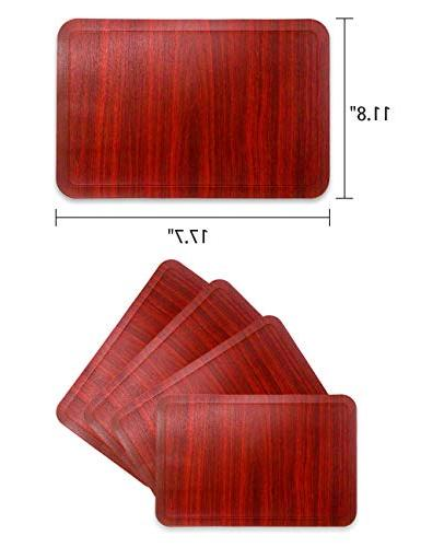 Alpiriral Heat Easy to Scrub Skid Vinyl Place Mats Table Protect The Table with A Nice in