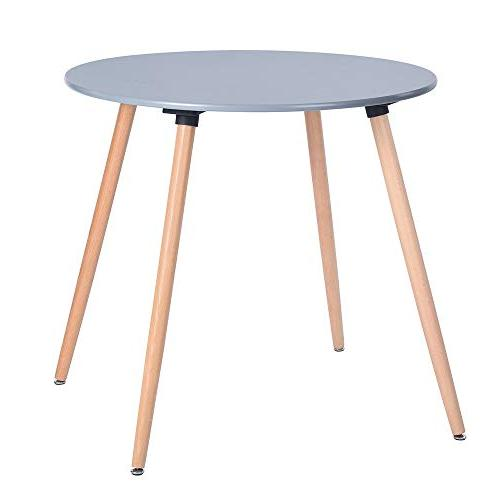 Round Coffee Table Century Modern Table Solid Table Office Desk with Legs and MDF Top