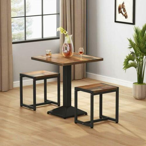 Small Kitchen Dining Table And 2 Chairs Set Space Saver Furn