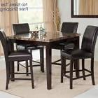 Dining Table Set for 4 Counter Height 5-Piece Dining Room Se