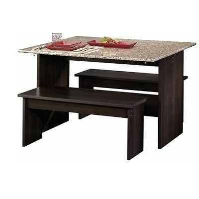 Dining Table Set With Benches For Small Spaces Drop Leaf Gra