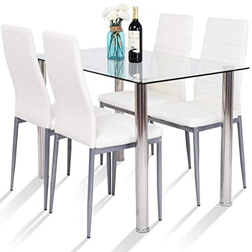 dining table set glass