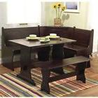 Dining Table Set With Bench Country Nook Corner Kitchen Tabl