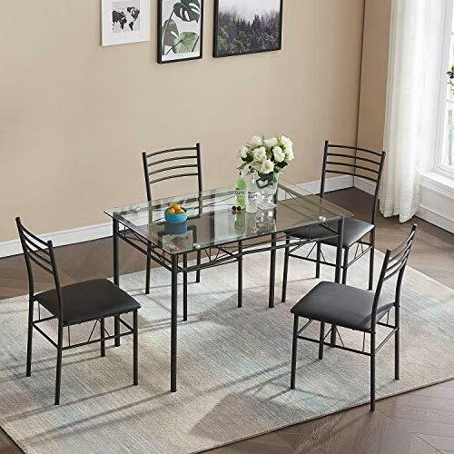 Dining Set 4 4 Included,