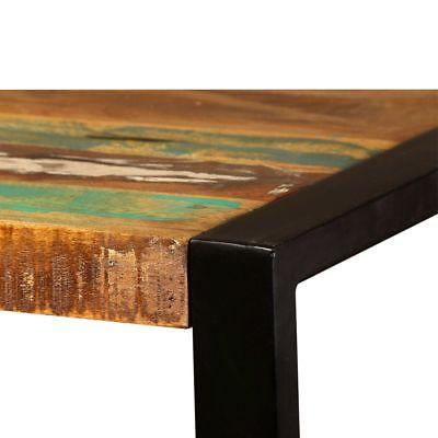 "vidaXL Table Reclaimed Wood Steel Industrial 47.2""/70.9"""