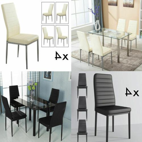 dinning table 4pcs chairs set leather kitchen