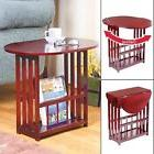 Drop Leaf Table Space Saving Coffee Revolve Top Cherry Finis