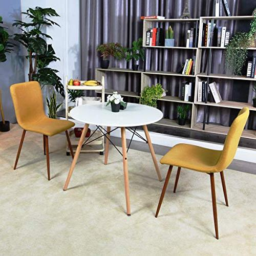 Coavas White Table Modern Wooden Table Conference Desk