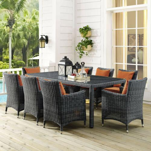 Modway EEI-1942-GRY Summon 83 Inch Outdoor Patio Dining Tabl