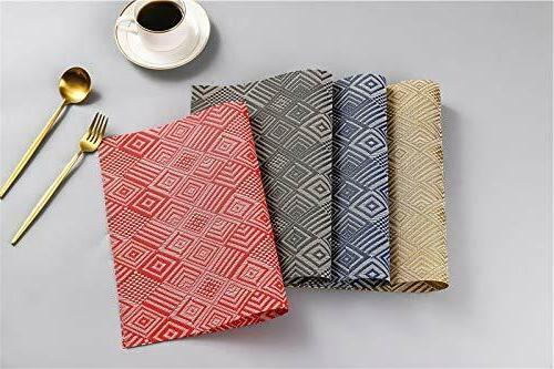 Elegant Kitchen Placemats Table Protection Mats Vinyl Of 18""