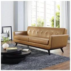 Engage Leather Sofa by Modway
