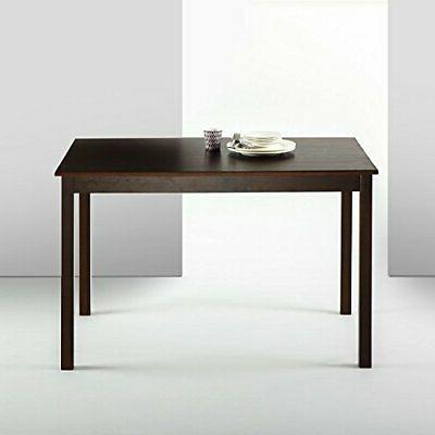 Zinus Espresso Wood Dining Table Only Simple Classic Rectang