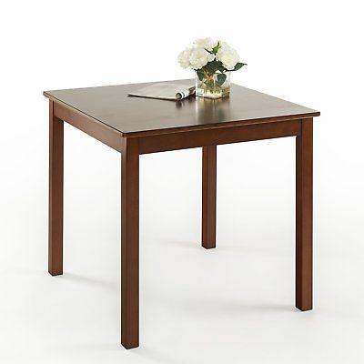 espresso wood square dining table