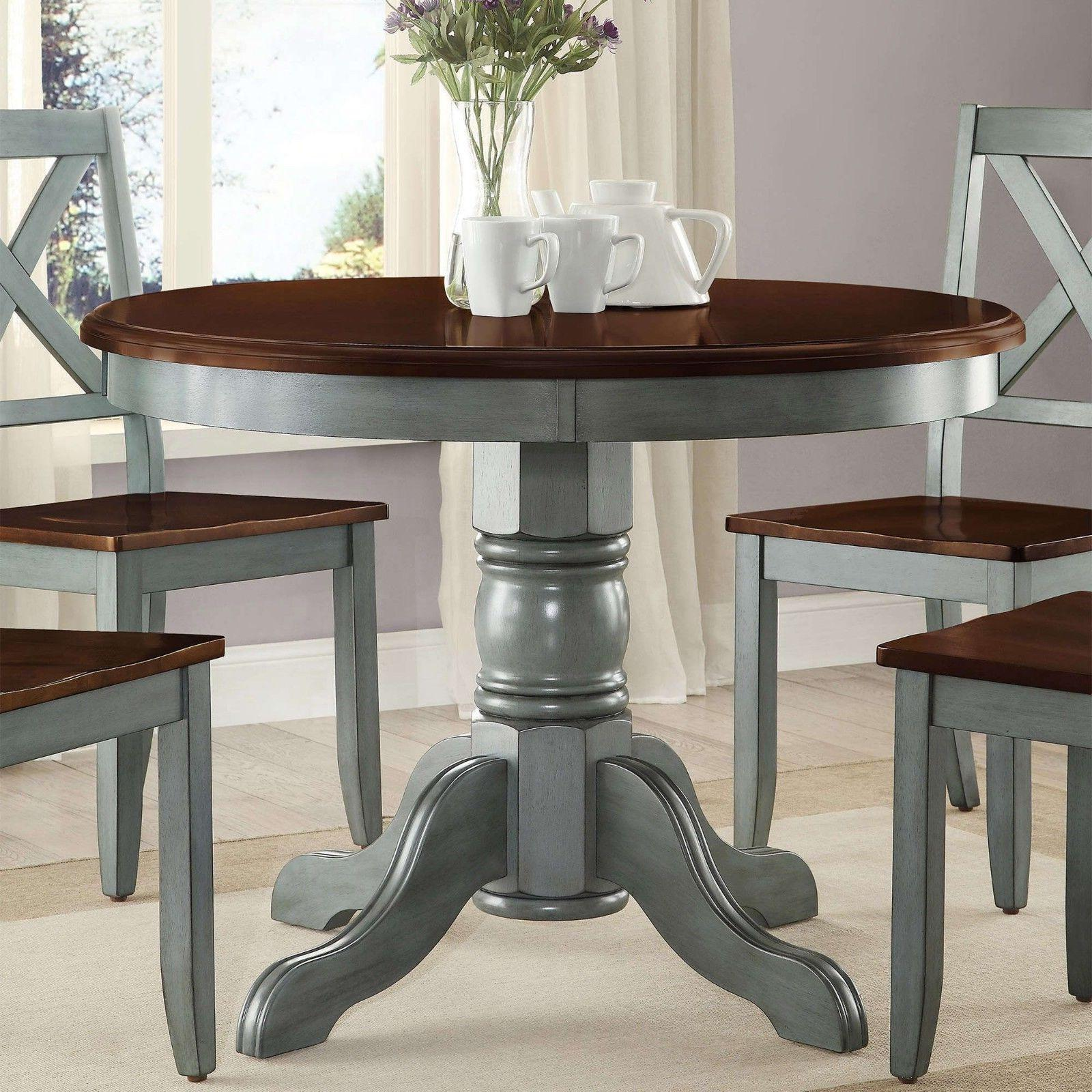 Farmhouse Dining Table Set Rustic Round Kitchen Tables