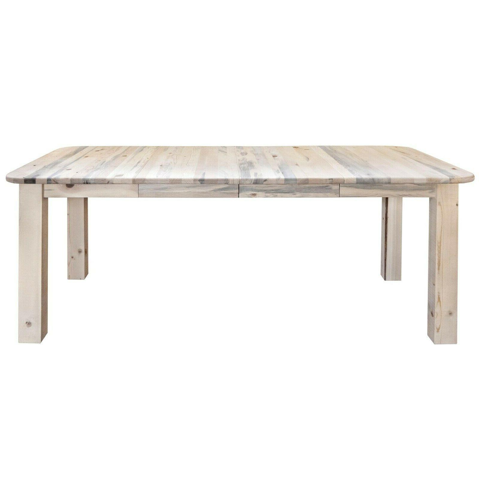 farmhouse style dining table extendable rustic amish