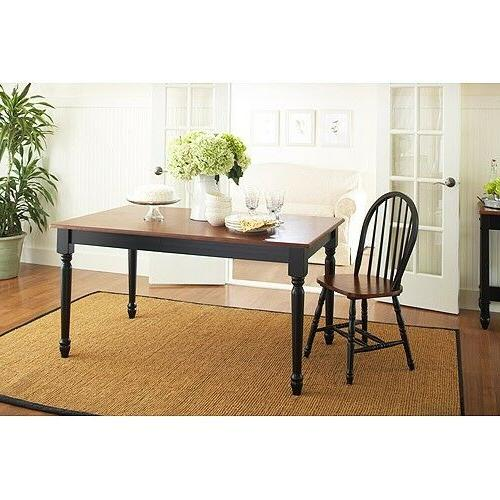 Farmhouse Dining Table for 6 Hardwood Traditional and