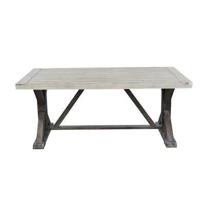 farmhouse wood outdoor dining table
