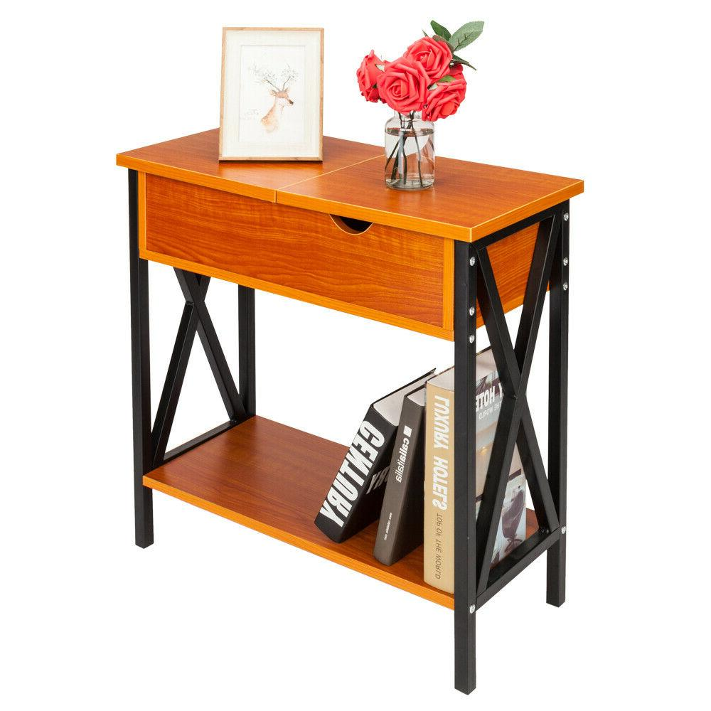 Side Table Creative Vintage Cherry Flip Top Table Collection