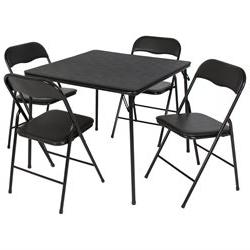 folding table chairs card poker