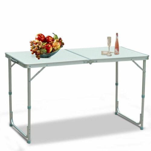 Height Adjustable Folding Table Portable Outdoor Picnic Part