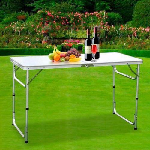 folding table portable outdoor picnic party dining