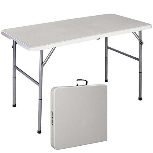 Folding Table 4' Portable Plastic Indoor Outdoor Picnic Part