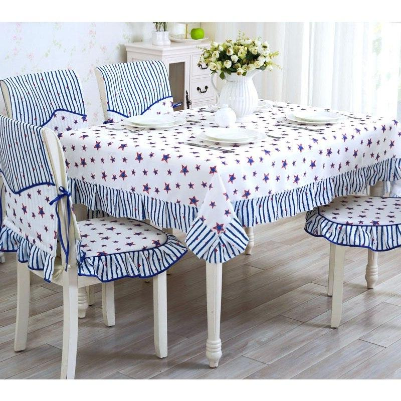 <font><b>Table</b></font> <font><b>Dining</b></font> Romantic Wedding Embroidered Tablecloth Pastoral Style <font><b>Table</b></font> Cover Decor 1