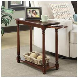 French Country Regent End Table, Mahogany