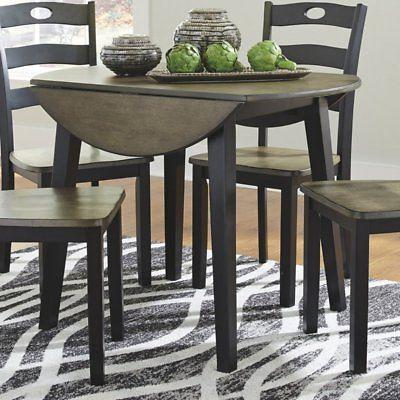 froshburg round drop leaf dining table