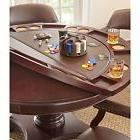 Game Table with Removable Top for Game Room Dining Brown Set