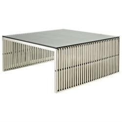 Modway Gridiron Coffee Table In Silver