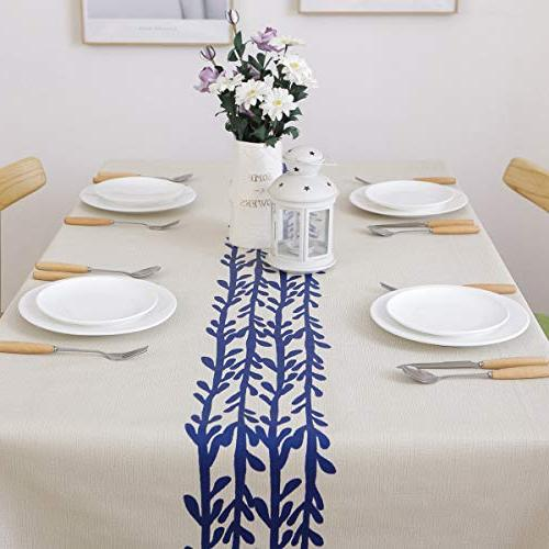 JZY Duty Table Cloth Kitchen Dining PVC Tablecloth Rectangle