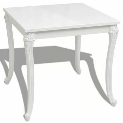 vidaXL High Gloss White Dining Dinner Table Dining Room Home Furniture