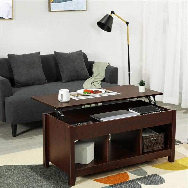 Lift Top Coffee Table Dining Table Lift Tabletop W/ Hidden S