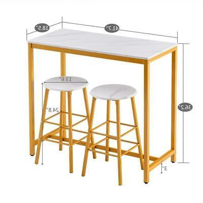 3 Piece Stools Sets Height Furniture